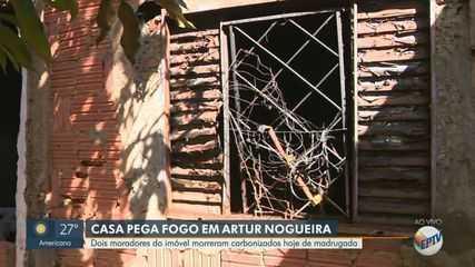 Casal morre após imóvel pegar fogo em Artur Nogueira