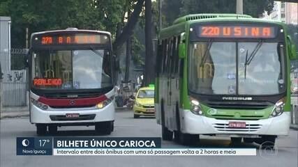 Intervalo para pegar dois ônibus com uma só passagem volta a ser de 2 horas e meia no Rio