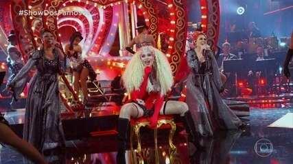 Solange Almeida homenageia Christina Aguilera na final do 'Show dos Famosos'