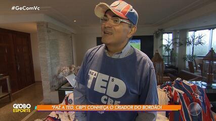 """Conheça o torcedor do Bahia que criou bordão """"Faz a TED, CBF"""""""