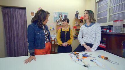 Roberta Campos conhece duas empreendedoras do artesanato!