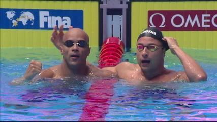 Brasil conquista a prata e o bronze na prova dos 50m peito masculino