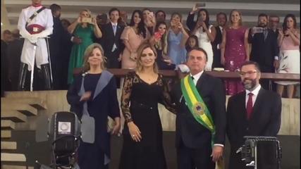 Presidente Jair Bolsonaro oferece coquetel no Palácio do Itamaraty, veja