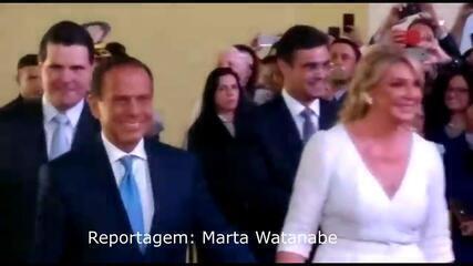 Veja o momento em que o governador João Doria chega ao Palácio dos Bandeirantes