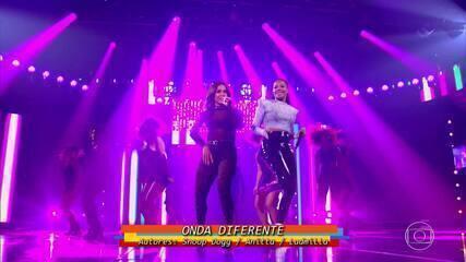 Anitta, Ludmilla e Papatinho se apresentam ao som de 'Onda Diferente'