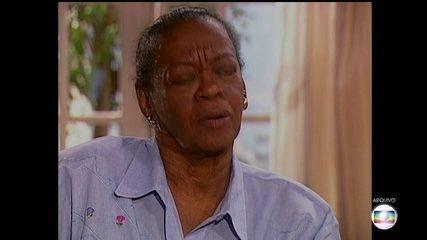 Vai ser enterrado no Rio o corpo da atriz Ruth de Souza, uma pioneira no teatro e na TV