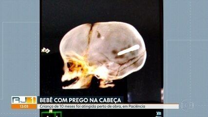 Criança de 10 meses é atingida por objeto na cabeça, em Paciência