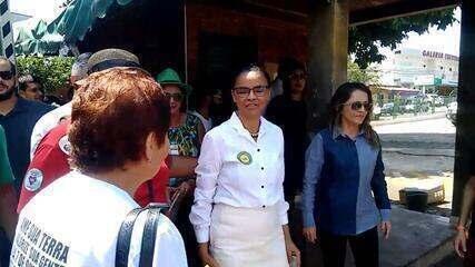 Veja o momento em que a candidata Marina Silva vota em Rio Branco