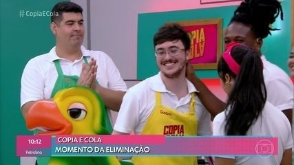 Gustavo é o primeiro eliminado no 'Copia e Cola'