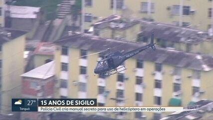 Polícia Civil cria manual secreto para uso de helicópteros em operações