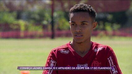 Conheça Lázaro, camisa 10 e artilheiro da equipe Sub-17 do Flamengo
