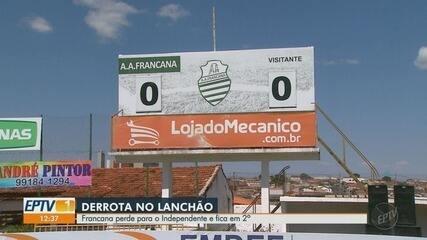 Francana perde para o Independente, mas fica em 2º lugar