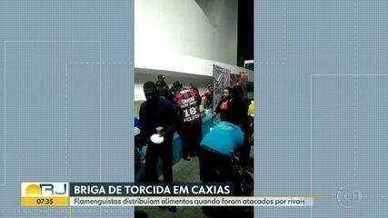 Torcedores do Vasco atacam flamenguistas que distribuíam alimentos em Caxias