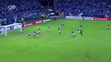 Dudu marca contra o San Lorenzo, mas Grêmio é eliminado da Libertadores em 2014