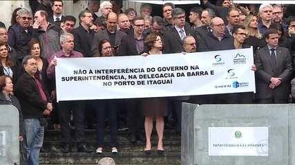 Auditores protestam contra o que consideram tentativa de interferência política na Receita