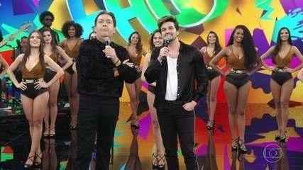 Luan Santana, durante Domingão do Faustão, falando sobre o novo show