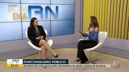 Entrevista: Secretária de administração do RN fala sobre crise financeira