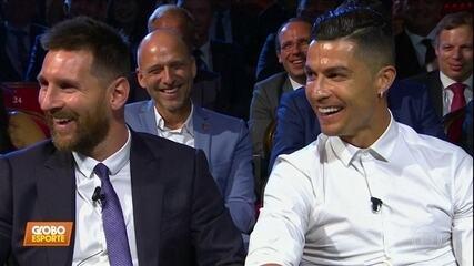 Messi e Cristiano Ronaldo se encontram em premiação dos melhores da temporada europeia