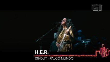 H.E.R.: Como será o show no Rock in Rio 2019?