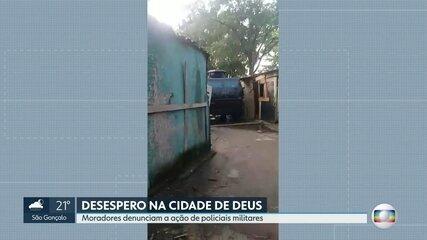 Moradores da Cidade de Deus denunciam que caveirão da PM derrubou barracos