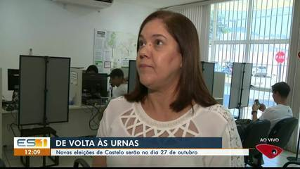 Novas eleições para prefeito de Castelo, ES, acontecem em 27 de outubro