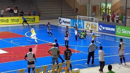 Aparecida e Maruim empatam em suas estreias na Copa TV Sergipe de Futsal