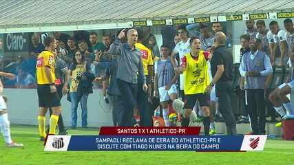 Relembre a confusão entre Jorge Sampaoli e Tiago Nunes, em 2019; técnicos se reencontram nesta quarta, para Atlético-MG x Corinthians