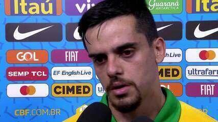 """Após derrota do Brasil, Fagner comenta: """"A gente sabe da força do futebol sul-americano"""""""