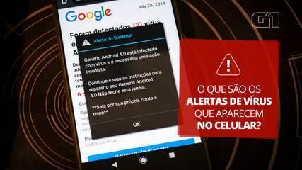 Entenda por que você pode receber alertas de vírus falsos no celular