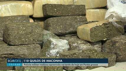 Polícia apreende 110 quilos de maconha em Ponta Grossa