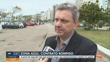A partir de segunda pagamento de estacionamento rotativo de Florianópolis não será preciso