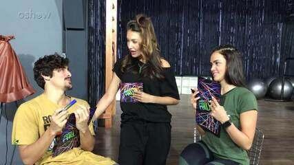 Bruno Montaleone e Jaqueline Giocci respondem ao quiz de afinidade no 'Dança dos Famosos'