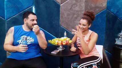 Luis Lobianco e Francielle Pimenta respondem ao quiz de afinidade no 'Dança dos Famosos'