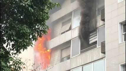 Incêndio atinge prédio em Ipanema, na Zona Sul do Rio de Janeiro