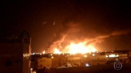 Ataques com drones em refinaria de petróleo na Arábia Saudita