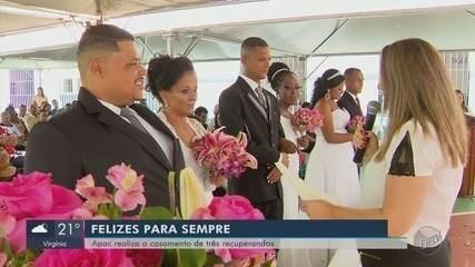 Presos da Apac participam de casamento comunitário em Campo Belo