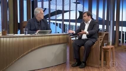 Rodrigo Maia fala sobre possível indicação de Eduardo para a embaixada dos Estados Unidos