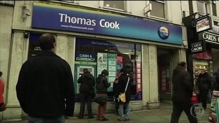 Agência de viagens britânica Thomas Cook, uma das maiores do mundo, declara falência