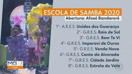 Carnaval 2020 em BH: Liga das Escolas de Samba de Minas Gerais define ordem dos desfiles