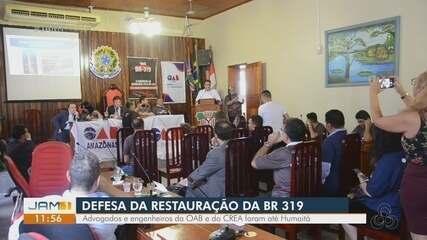 Caravana visita Humaitá para defesa da restauração da BR-319