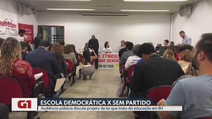 Projeto de lei sobre Escola sem Partido gera polêmica na Câmara de Belo Horizonte