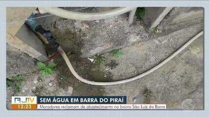Moradores reclamam de falta d'água no bairro São Luiz da Barra, em Barra do Piraí