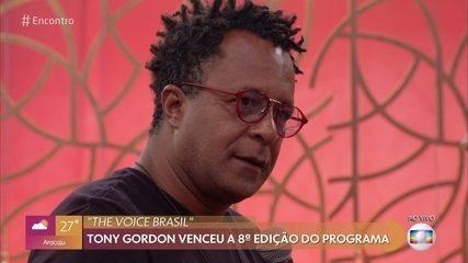 Tony Gordon fala da emoção de vencer o 'The Voice Brasil'