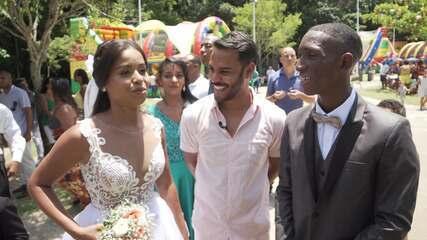 Pablo Vasconcelos conhece um casal que realizou o sonho do casamento no Parque da Cidade