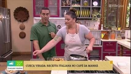 Camila Vitalino prepara Cueca Virada para o café da manhã no 'É de Casa'