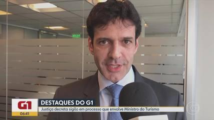 G1 no BDMG: Justiça decreta sigilo no processo envolvendo Ministro do Turismo