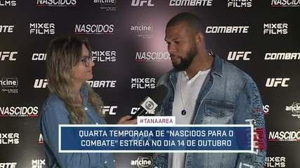 """Thiago Marreta participa do lançamento da 4ª temporada da série """"Nascidos para o combate"""""""