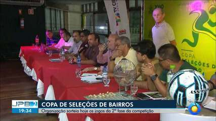 JPB2JP: Organização sorteia hoje os jogos da 2ª fase da Copa de Seleções de Bairros