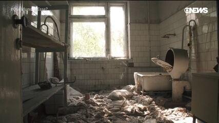 As ruínas do desastre nuclear de Chernobyl