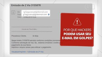 Por que é possível receber e-mails do seu próprio endereço?